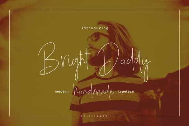 Download Bright Daddy Typeface font (typeface)