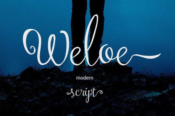 Download Weloe Script font (typeface)