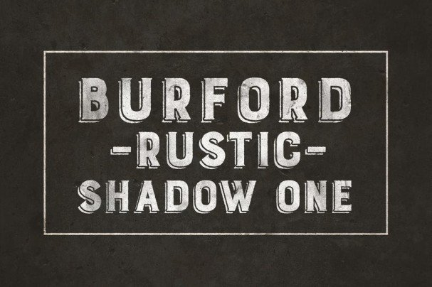 Download Burford Rustic Shadow One A font (typeface)