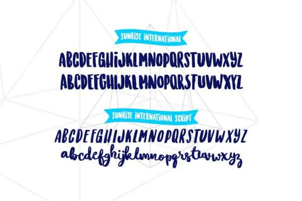 Download Sunrise International (Typeface) font (typeface)