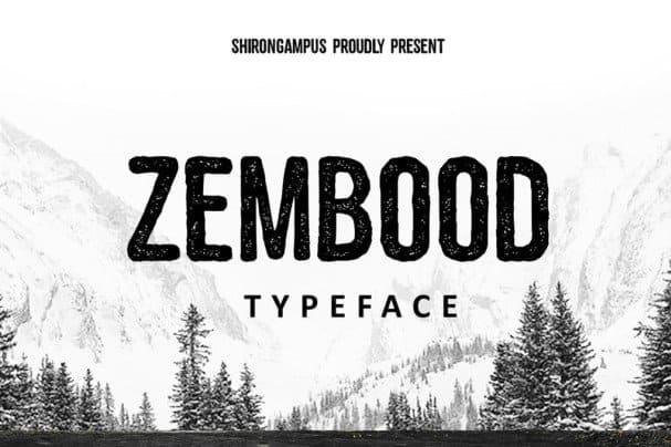 Download Zembood Vintage font (typeface)