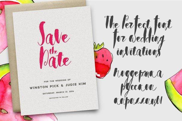Download Watermelon Sorbet Brush Script font (typeface)