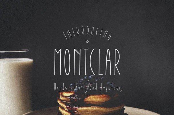Download Montclar Handwritten font (typeface)