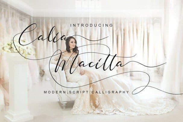 Download Calia Macitta font (typeface)