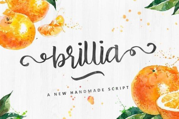 Download Brillia Script font (typeface)