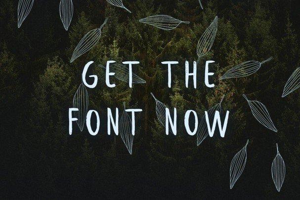 Download Leafy Brush font (typeface)