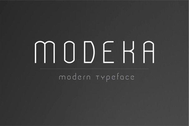 Download Modeka - Modern font (typeface)