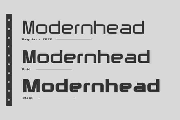 Download Modernhead Typeface font (typeface)