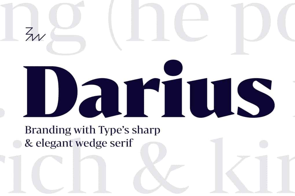 Download Bw Darius font family font (typeface)