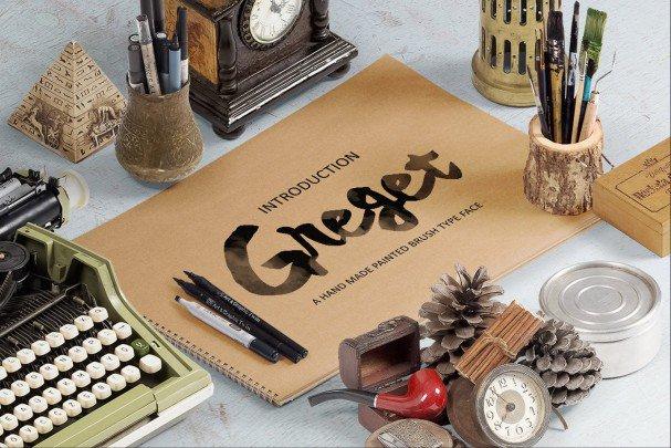 Download Greget Typeface font (typeface)