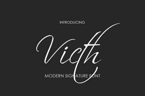 Download Victh font (typeface)