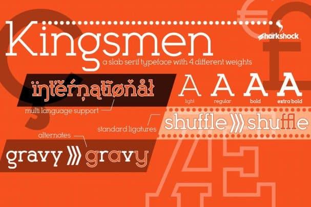 Download Kingsmen font (typeface)