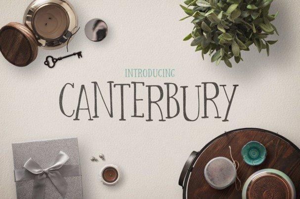 Download Canterbury Font + Bonus Mockups font (typeface)