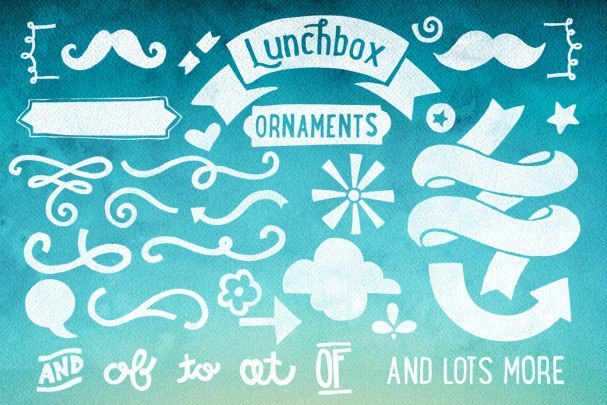 Download Lunchbox Ornaments font (typeface)
