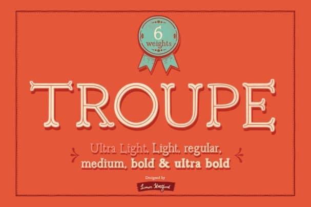Download Troupe font font (typeface)