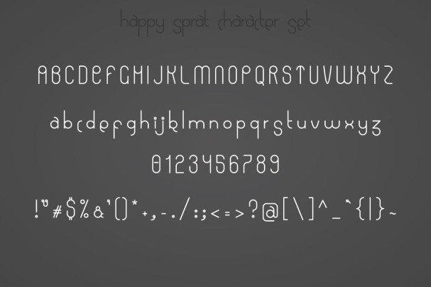 Download Happy Sprat font (typeface)