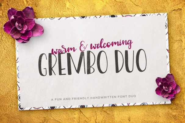 Download Grembo Font Duo font (typeface)
