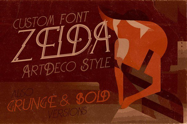 Download Zelda - ArtDeco Font font (typeface)