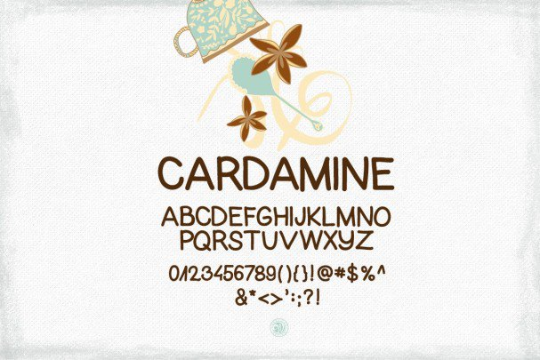Download Cardamine Font font (typeface)