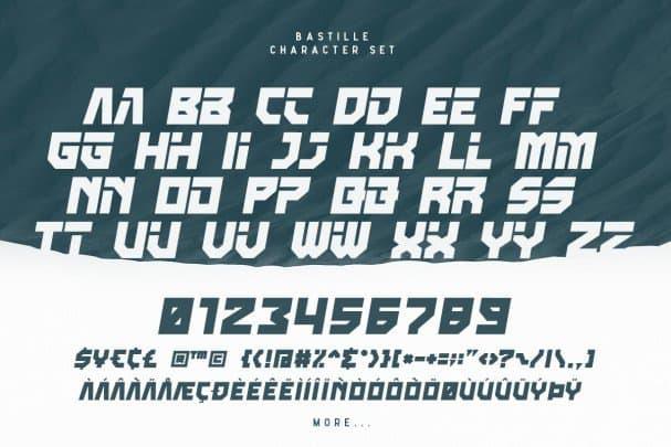 Download Bastille font (typeface)