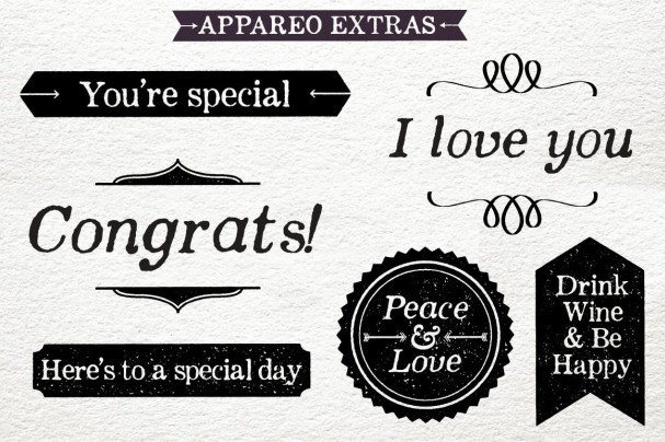 Download Appareo Extras font (typeface)