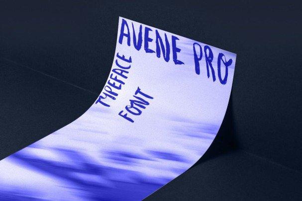 Download Avene PRO Brush font (typeface)
