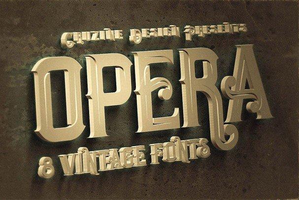 Download Opera Vintage Typeface font (typeface)