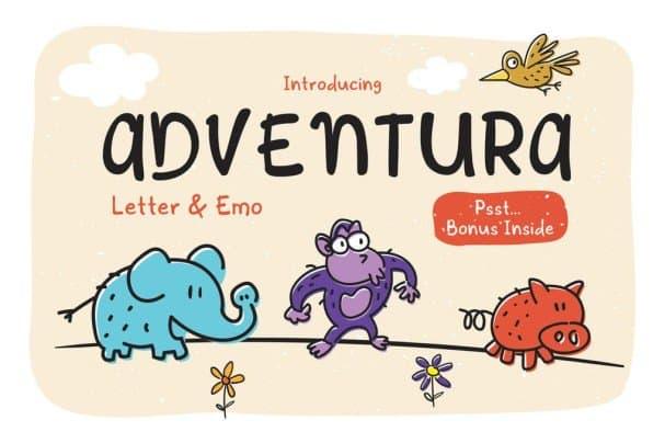 Download Adventura Letter & Emo font (typeface)