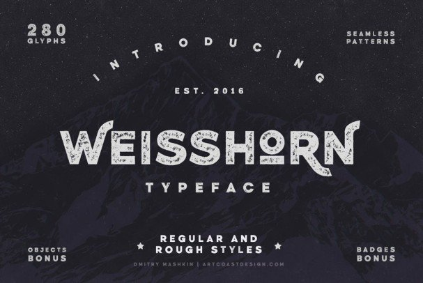 Download Weisshorn Typeface font (typeface)