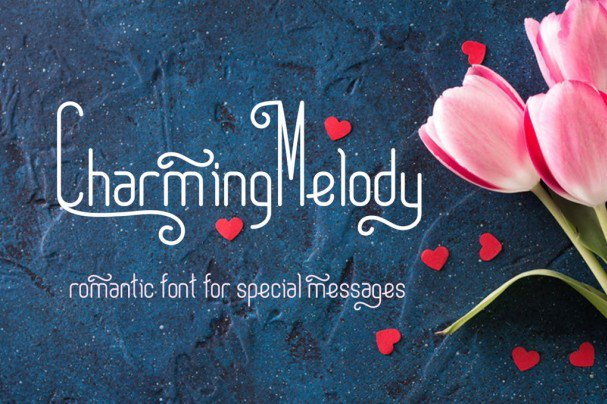 Download Charming Melody | romantic curly font (typeface)