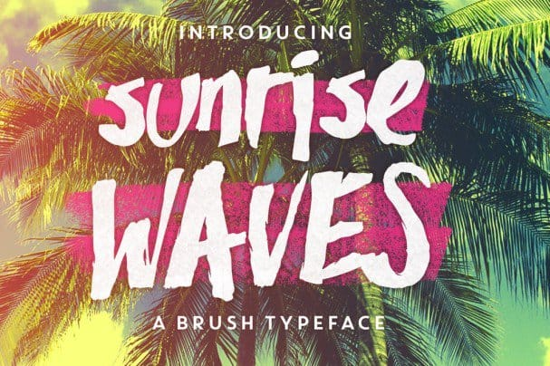 Download Sunrise Waves font (typeface)