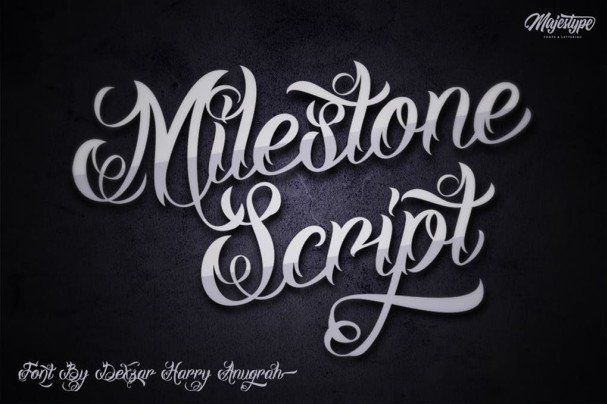 Download Milestone Script font (typeface)