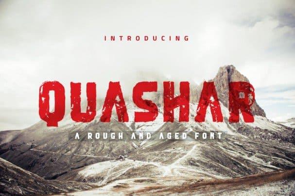 Download Quashar font (typeface)