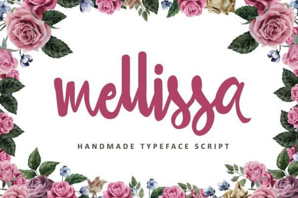 Download Mellissa Script font (typeface)