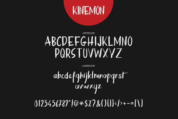 Download Kinemon Brush Font + Swash font (typeface)