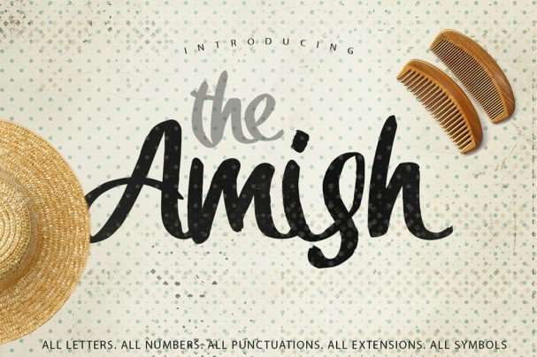 Download The Amish Typeface font (typeface)