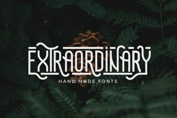 Download Extraordinary - Handmade font (typeface)