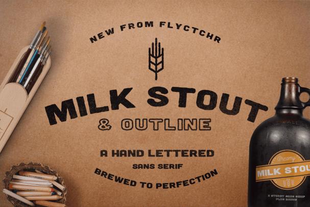 Download Milk Stout font (typeface)