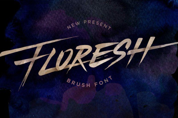 Download Floresh Typeface - Brush Font font (typeface)