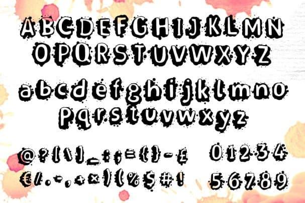Download Splasher + WhiteFill version font (typeface)