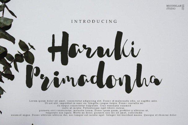 Download Harukia Primadonha font (typeface)
