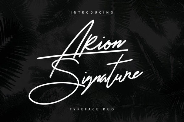 Download Arion Signature Typeface font (typeface)