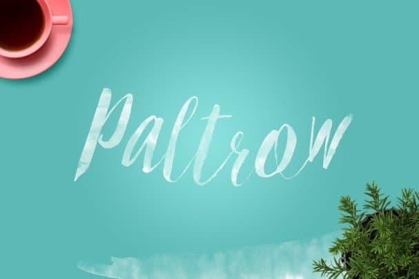 Download Paltrow font (typeface)