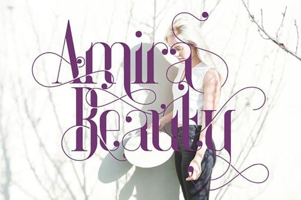 Download Amira Beauty font (typeface)