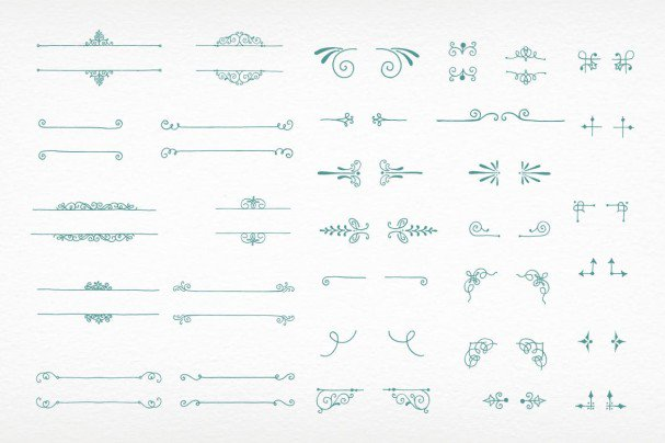 Download Amorie Font Elements - Borders font (typeface)