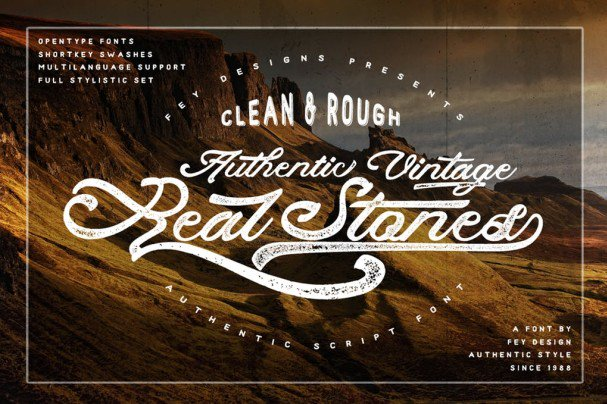 Download Real Stones - Clean And Rough font (typeface)