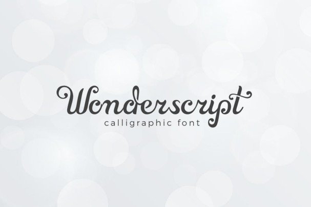 Download Wonderscript Calligraphic Font font (typeface)