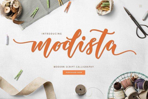 Download Modista Script font (typeface)