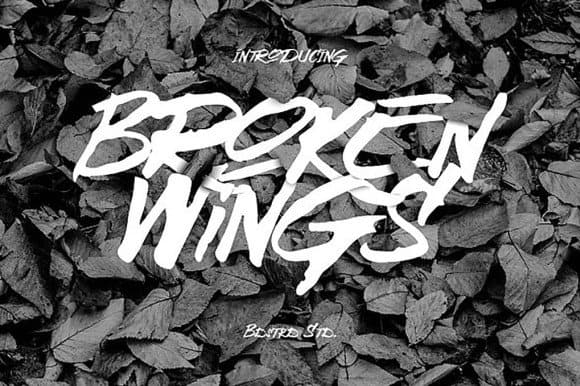 Download Broken Wings font (typeface)
