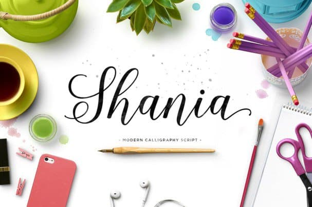 Download Shania Script font (typeface)